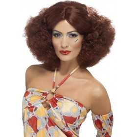 Ladies 70'S Afro Wig Wigs - (Red)