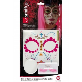 Day of the Dead Sweetheart Make-Up Kit Halloween Fancy Dress Accessory
