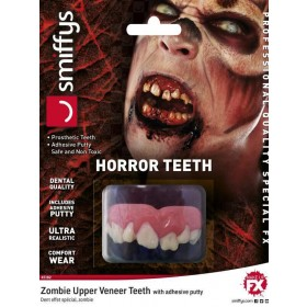 Adults Dental Quality Horror Teeth, Zombie, with Upper Veneer Teeth Halloween Fancy Dress Accessory
