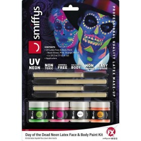 (UV Neon) Day of the Dead Liquid Latex Kit Halloween Accessory