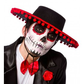 Adults Day Of The Dead Senor Hat Halloween Fancy Dress Accessory