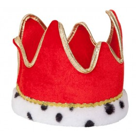 Adults Red King/Queen Crown (Royalty) Fancy Dress Accessory