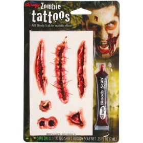 Zombie Tattoos W/ Bloody Scab -P Other