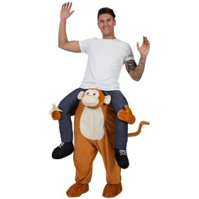 Adults Plush Carry Me Cheeky Monkey Fancy Dress Costume