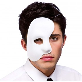 Adult Unisex Phantom Side Mask - White Eyemasks - (White)