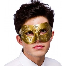 Adult Unisex Rome Eyemask - Antique Gold Eyemasks - (Gold)