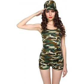 Ladies Bootcamp Babe Army Outfit - (Camo)