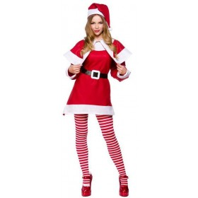 Budget Mrs Santa Clause Fancy Dress Costume Ladies (Christmas)