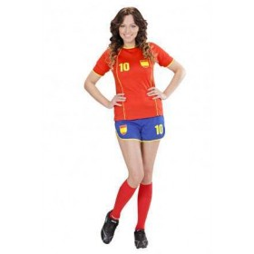 World Cup Soccer Girl Spain Fancy Dress Costume