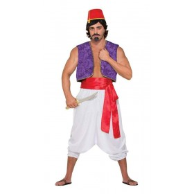 Desert Prince Red Sash Deluxe Fancy Dress