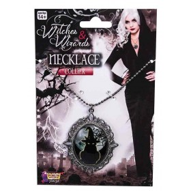 Witches Cameo Necklace Fancy Dress Halloween Accessory