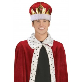 King Hat Red Soft Fancy Dress Accessory