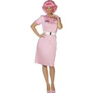 Grease Frenchy Beauty School Drop Out Fancy Dress Costume 1950s (Official Licensed)