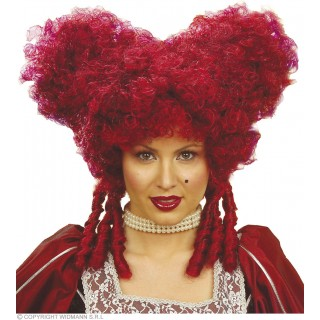 Baroque Noblewoman Wig Burgundy - Fancy Dress Ladies
