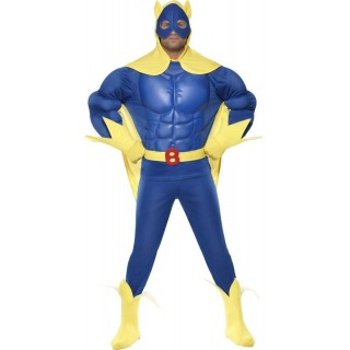 Bananaman Fancy Dress Costume Mens (1980S , Cartoon , Heroes , Tv)