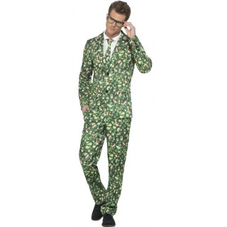 Mens Green Brussel Sprout Stand Out Suit Fancy Dress Costume