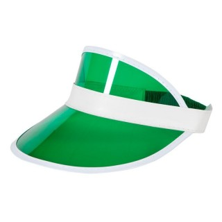 Mens Casino / Pub Golf Visor Hats - (Green)