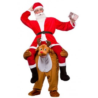 Christmas Winter Reindeer Carry Me Mascot Fancy Dress Costume