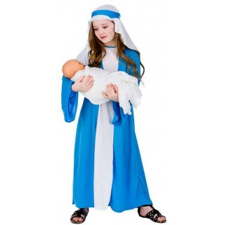 Childs Mary Nativity Christmas Fancy Dress Costume