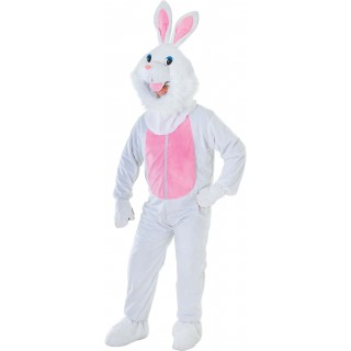 Rabbit Big Head With Fur Trim Fancy Dress Costume