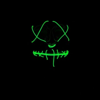 Neon green mask