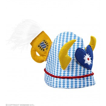 Oktoberfest Party  Hat W/Horns Mug And Heart.