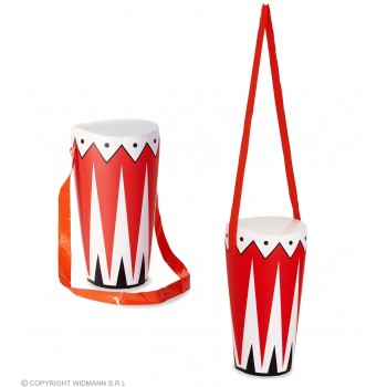 Inflatable Drum 36 Cm Fancy Dress Accessory