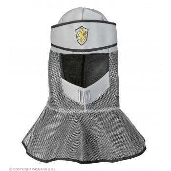 Adults Soft Medieval Knight Helmet Fancy Dress Accessory