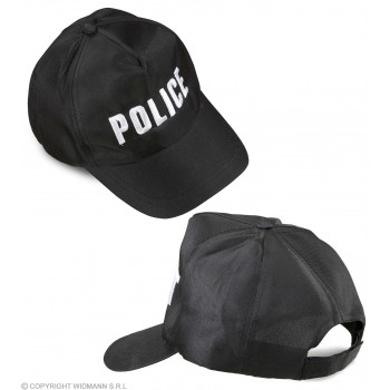 Adult Adjustable Police Cap Fancy Dress Accessory
