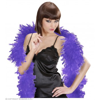 Feather Boa Small Purple 180Cm - Fancy Dress