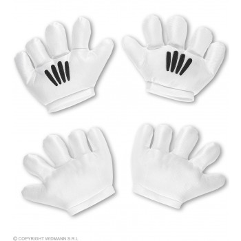 Adults Cartoon Charater Gloves Fancy Dress Accessory