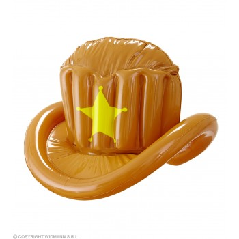 Inflatable Western Cowboy/Sheriff Hat Fancy Dress Accessory