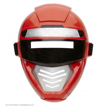 Childs Red Power Robot/Ninja Mask Fancy Dress Accessory