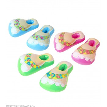 Inflatable Hawaiian Sandals (56Cm) In 3 Colours Fancy Dress Accessory
