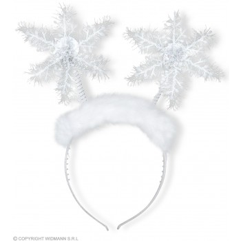 Festive White Snowflake Head Boppers