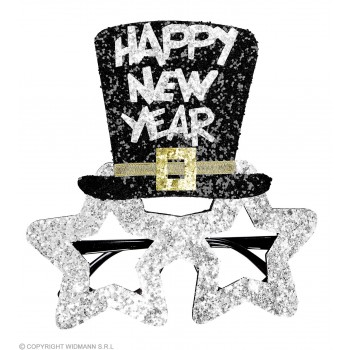 Adults Silver Star New Year Party Glasses.