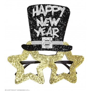 Adults Gold Star New Year Party Glasses.