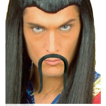 Moustache Chinese Black Adhesive - Fancy Dress