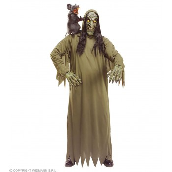 Witch Set W/Mask Costume And Hands Fancy Dress Costume (Halloween)