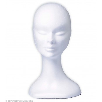 White Polystyrene Head - Fancy Dress