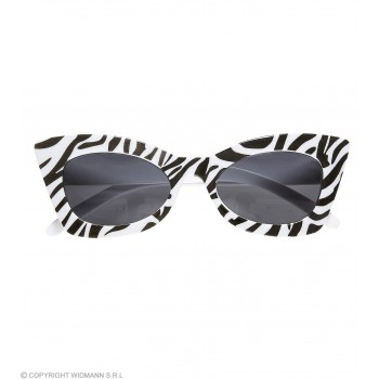 Adults 50's Zebra Rockabilly Glasses Fancy Dress Accessory