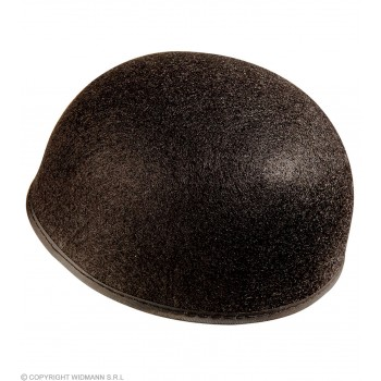 Felt Pierot Hat Black Plain Felt - Fancy Dress