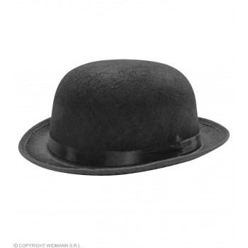 Felt Bowler Black - Fancy Dress