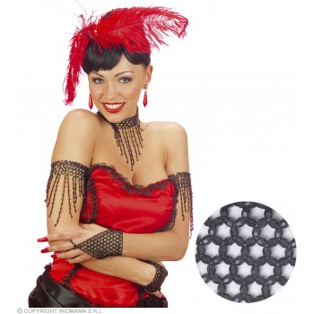 Beaded Armband - Black - Fancy Dress