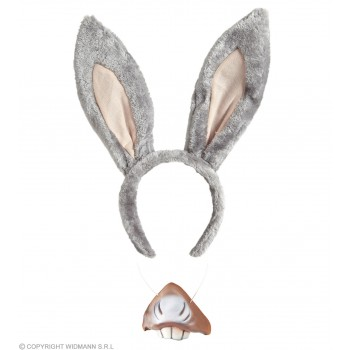 Donkey Set (Ears Mouth) Accessories - (Grey)