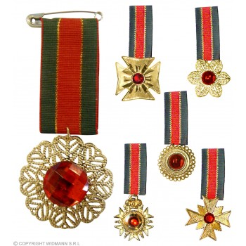 Medal With Gemstone - Fancy Dress
