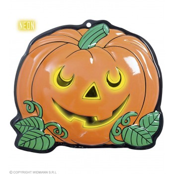 3D Neon Pumpkins 25X22Cm - Fancy Dress (Halloween)