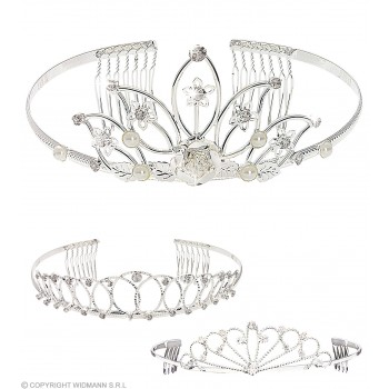 Rhinestone Diadem - Fancy Dress