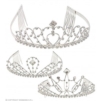 Rhinestone Tiara 3 Styles - Fancy Dress