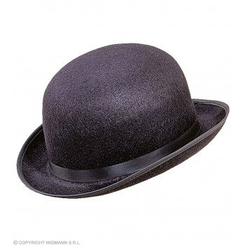 Bowler Big Felt Black - Fancy Dress